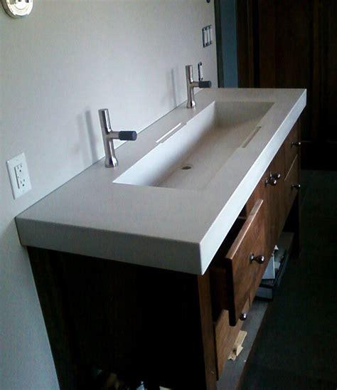 hand crafted custom concrete sinks  masonry  metal