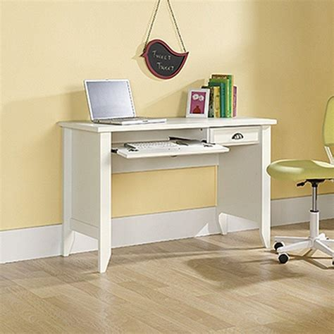sauder computer desk with keyboard tray sauder shoal creek collection white computer desk with