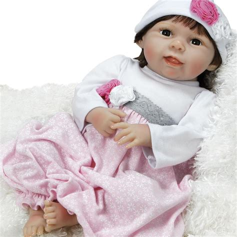 Baby Doll That Looks Real, Emma, Silicone Vinyl, 21 Inch