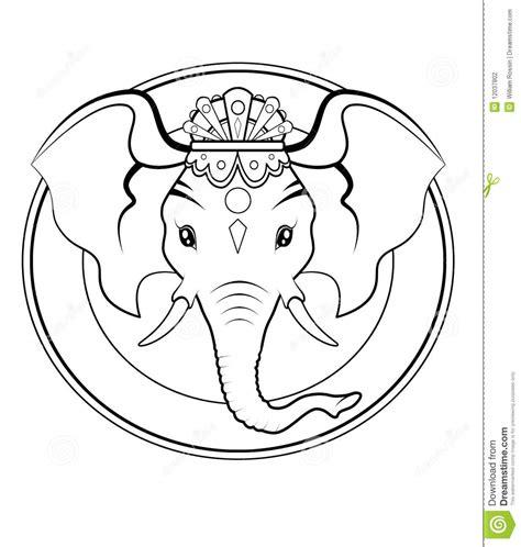 ganesh logo bw stock photography image