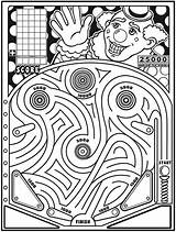 Maze Pinball Clown Coloring Dover Road Trip Mazes Publications Printable Welcome Doverpublications Musings Inkspired Games sketch template