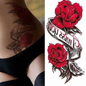 Tatouage Arriere Bras : hot sexy nouvelle 3d st r o tanche autocollants de tatouage alphabet rose fleur motif sexy ~ Melissatoandfro.com Idées de Décoration