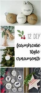 Farmhouse, Style, Ornaments, For, Christmas