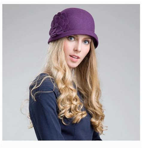 Female Winter Australia Wool Vintage Floral Womens Fedoras