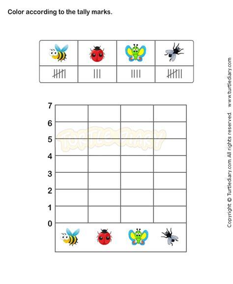 tally chart worksheet 1 math worksheets grade 1