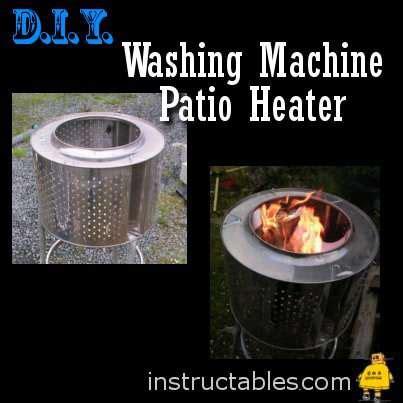 diy washing machine patio heater lpc survival