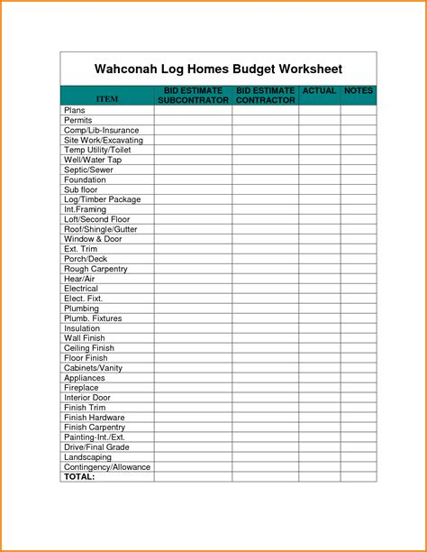home budget worksheet authorization letter