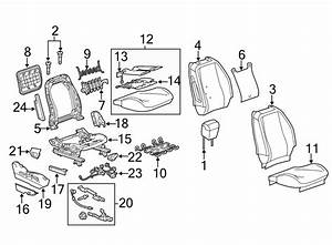 Gmc Terrain Power Seat Wiring Harness  Lower  W  Heated