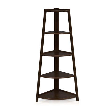 black corner ladder bookcase furinno 5 tier corner ladder shelf with espresso black