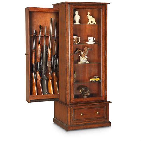 Gun Cabinet by American Furniture Classics 10 Gun Curio Slider Cabinet