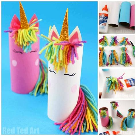 toilet paper roll unicorn for preschoolers ted 611   Unicorn crafts kids 3 600x600