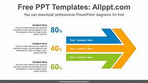 Large Horizontal Arrow Powerpoint Diagram Template