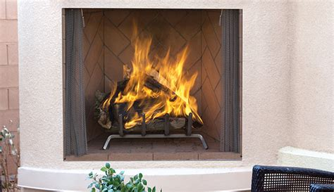 superior  wood burning outdoor fireplace  red