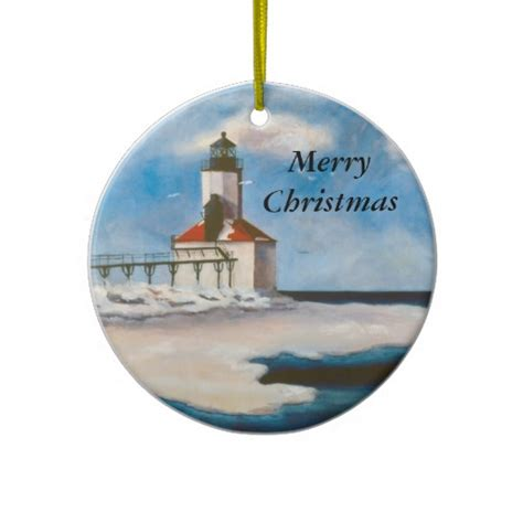 michigan city light christmas ornament http www zazzle