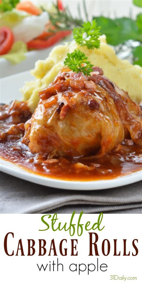 cabbage rolls in oven stuffed cabbage rolls with apple 31 daily