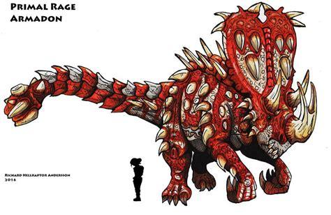 primal rage armadon god of by hellraptor on deviantart monsters godza dinosaurs