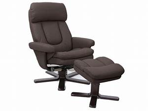 Repose Pied Salon : fauteuil relaxation repose pieds charles coloris chocolat en pu vente de tous les fauteuils ~ Teatrodelosmanantiales.com Idées de Décoration