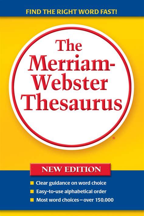 buy  merriam webster thesaurus trade paperback