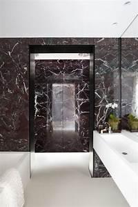 Bathroom brown marble decosee