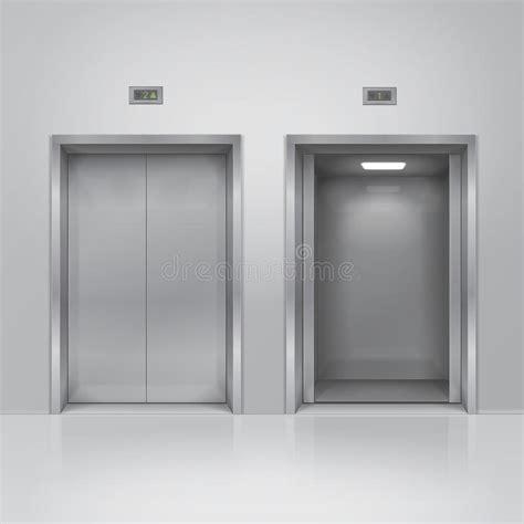 bureau d ude ascenseur portes ouvertes et fermées d 39 ascenseur de bâtiment en