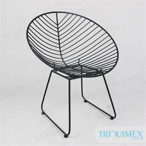 wrought iron chair for outdoor patio and garden triquimex