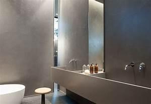 Foto: Bagno: Pareti In Cemento Resina Spatolato finitura Satinata di Pitture & Restauri #363300
