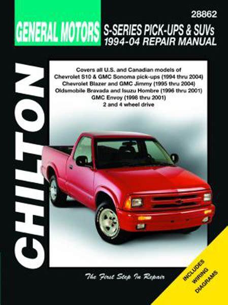 car maintenance manuals 1994 oldsmobile bravada parking system chevy s series pick ups suvs gmc sonoma jimmy envoy isuzu hombre oldsmobile bravada