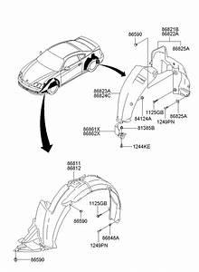 2008 Hyundai Tiburon Retainer  Nut  Molding  Rocker  Liner