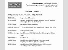 Fault Lines Conference Schedule and Panel » International