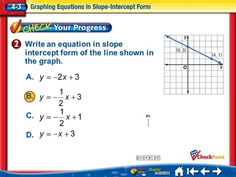 2x Y 7 In Slope Intercept Form by Write And Graph Linear Equations In Slope Intercept Form