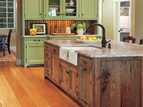 pictures  red kitchen cabinets rustic kitchen island