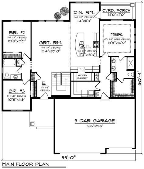 cottage style house plan    bed  bath  car