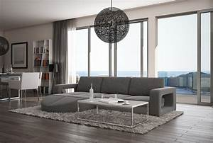 canape d39angle design gris galliano With tapis de course avec canape italien luxe