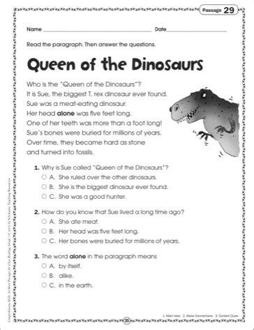 reading comprehension worksheet dinosaurs 15 best images of informational nonfiction worksheets