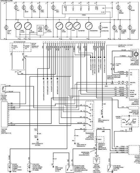 1997 Silverado Wiring Diagram by Instrument Cluster Wiring Diagram Of 1997 Chevrolet