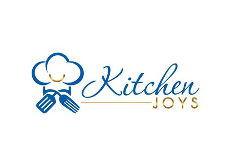 elegant playful kitchen logo design  kitchen joys