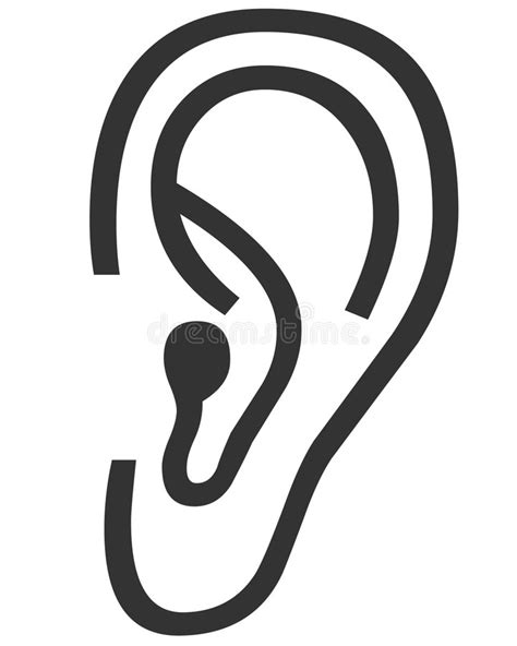 Oren Kleurplaat by Ear Symbol Stock Illustration Illustration Of Drawings