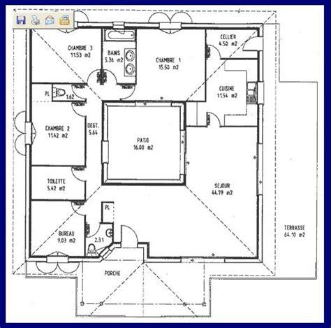 maison 3 chambres autour d un patio house