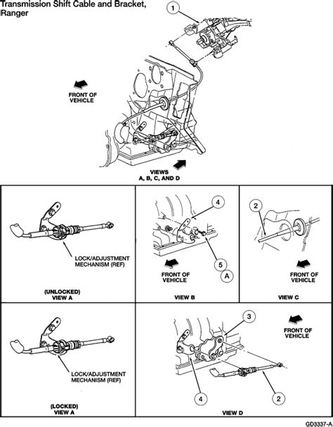 Ford Ranger You Adjust The Linkage From Steering