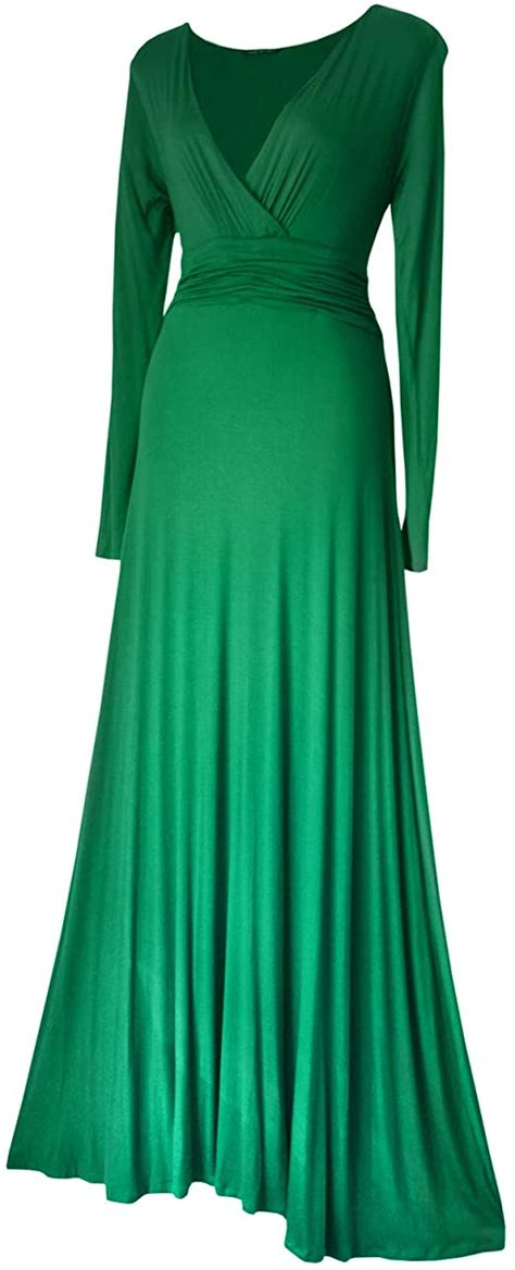 LONG SLEEVED LONG FULL LENGTH EVENING FORMAL MAXI PARTY ...