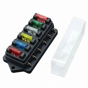 New 6 Way Fuse Holder Box Car Vehicle Circuit Blade Fuse