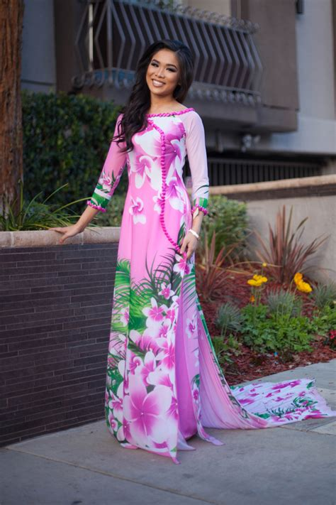 pink crush thai nguyen collection ao dai color chic