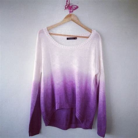 ombre sweater sweater clothes ombre knitwear pink sweater pretty