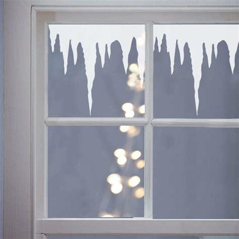fensterbild transparentpapier winter fensterbild mit tropfstein als deko zu weihnachten kita fensterbilder