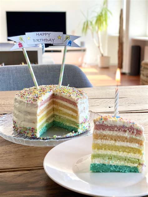 Regenbogen-Torte - Foodilicious