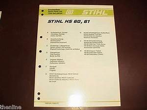Stihl Hs81r Hedge Trimmer Parts Diagram