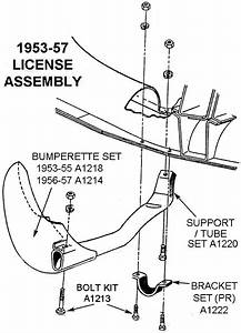 1953-57 License Assembly - Diagram View