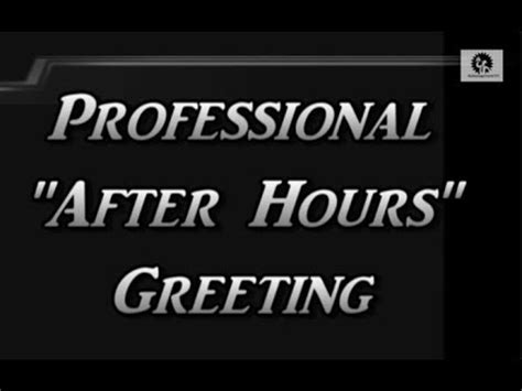 professional  hours virtual business office greeting