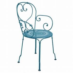 Fauteuil Bleu Turquoise : fauteuil 1900 de fermob bleu turquoise ~ Teatrodelosmanantiales.com Idées de Décoration
