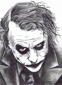 Pencil sketch of Joker | Pencil art | Pinterest | Awesome ...